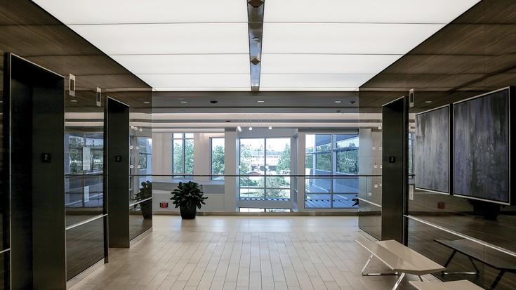 Sefar Architecture Lightframe Modulare Gewebedecken